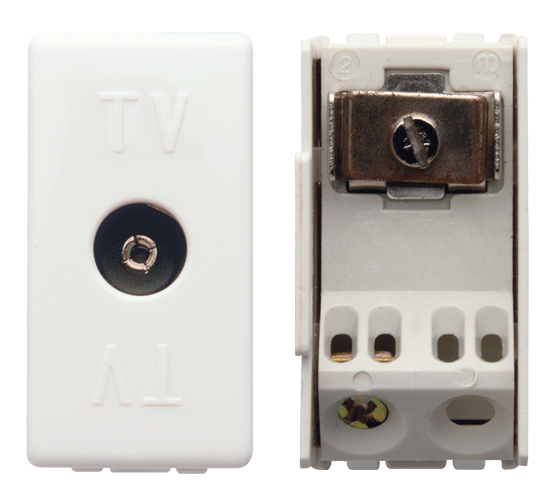 TV socket (ivory)