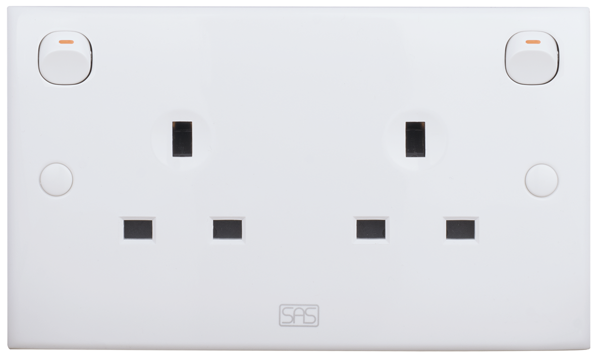 DOUBLE SOCKET BRITISH TYPE WITH SWITCH