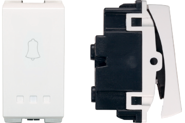 Doorbell switch with bell icon 10A (white)