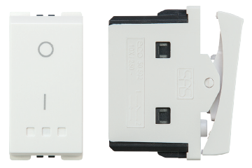Two-pole one way switch 16AX (white)