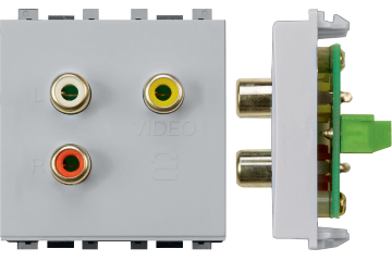Audio video socket (light grey)