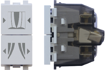 Curtain switch 3 clicks 10AX (light grey)