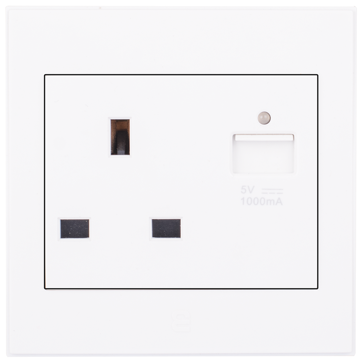 Socket British Type With USB Charger (13A / 7x7)
