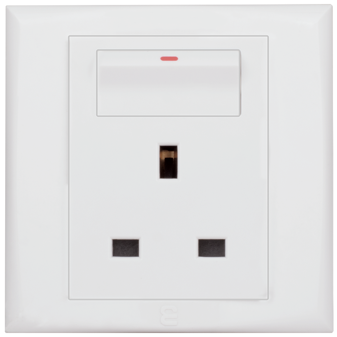 Socket british type with switch
