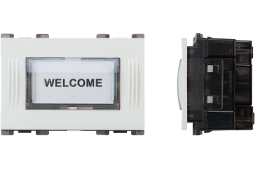 Doorbell switch nameplate with LED lamp 3A (white)