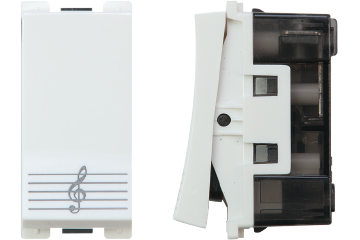 Doorbell switch with bell icon 16A (white)