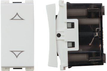 Curtain switch with 2 clicks 10A (white)