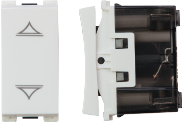 Curtain switch with 3 clicks 10A (white)