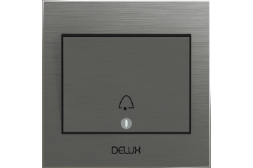 Door bell switch with bell icon 7x7 16A