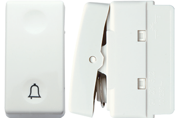 Doorbell switch with bell icon 10A (ivory)