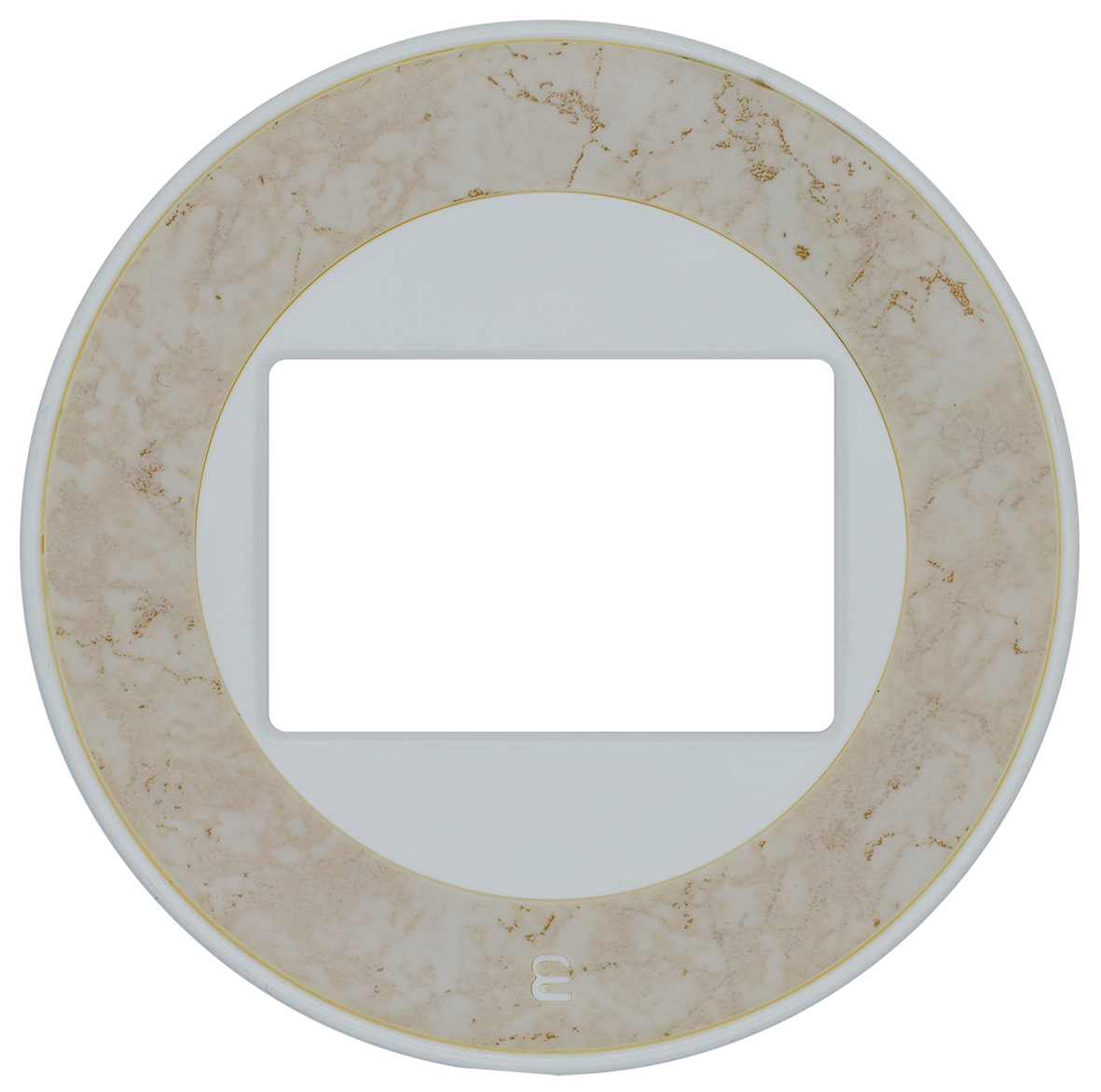 Frame: White / Center: Dark Marble