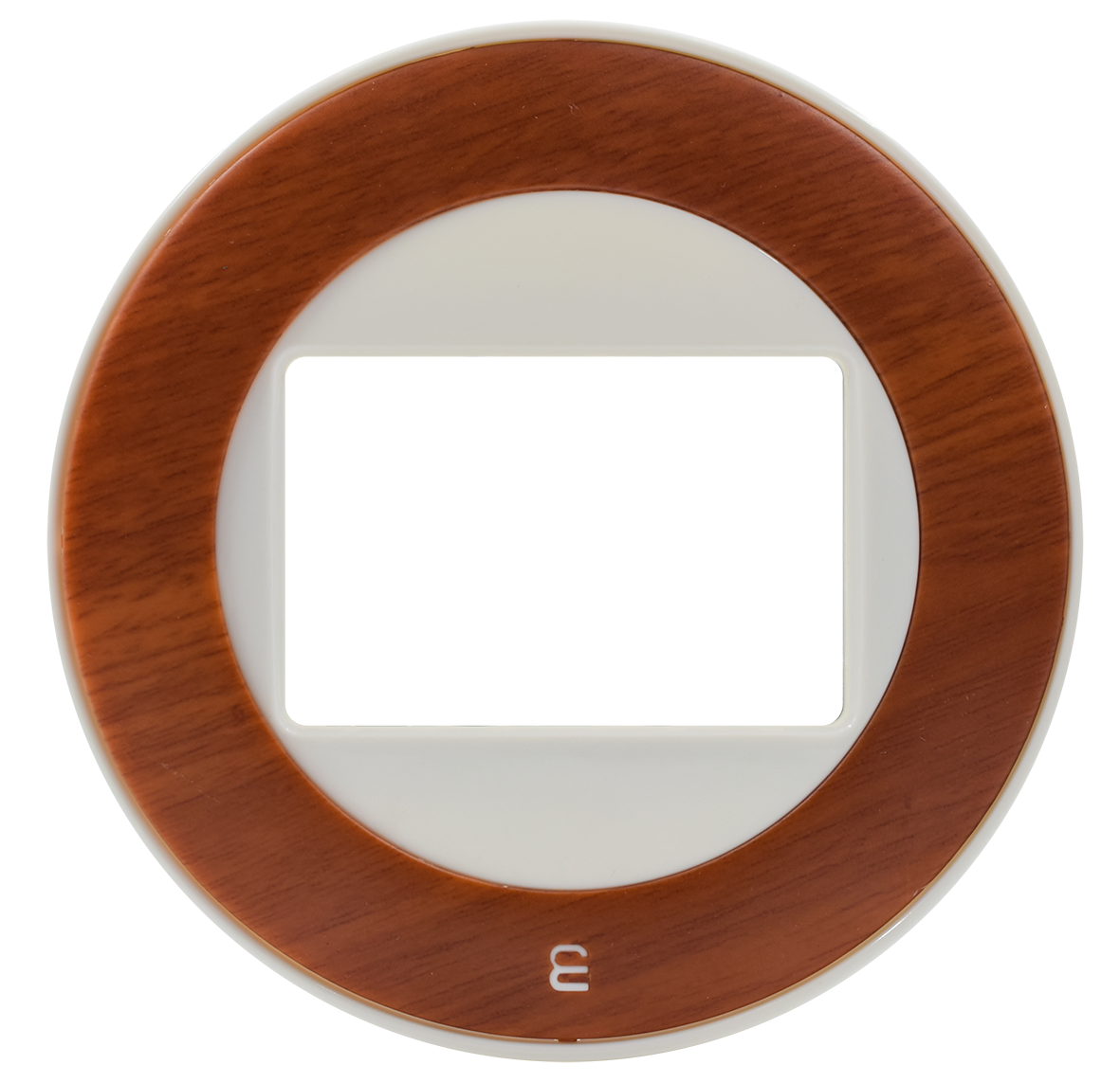 Frame: White / Center: Wooden Aro
