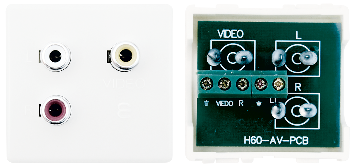 Audio video socket (ivory)