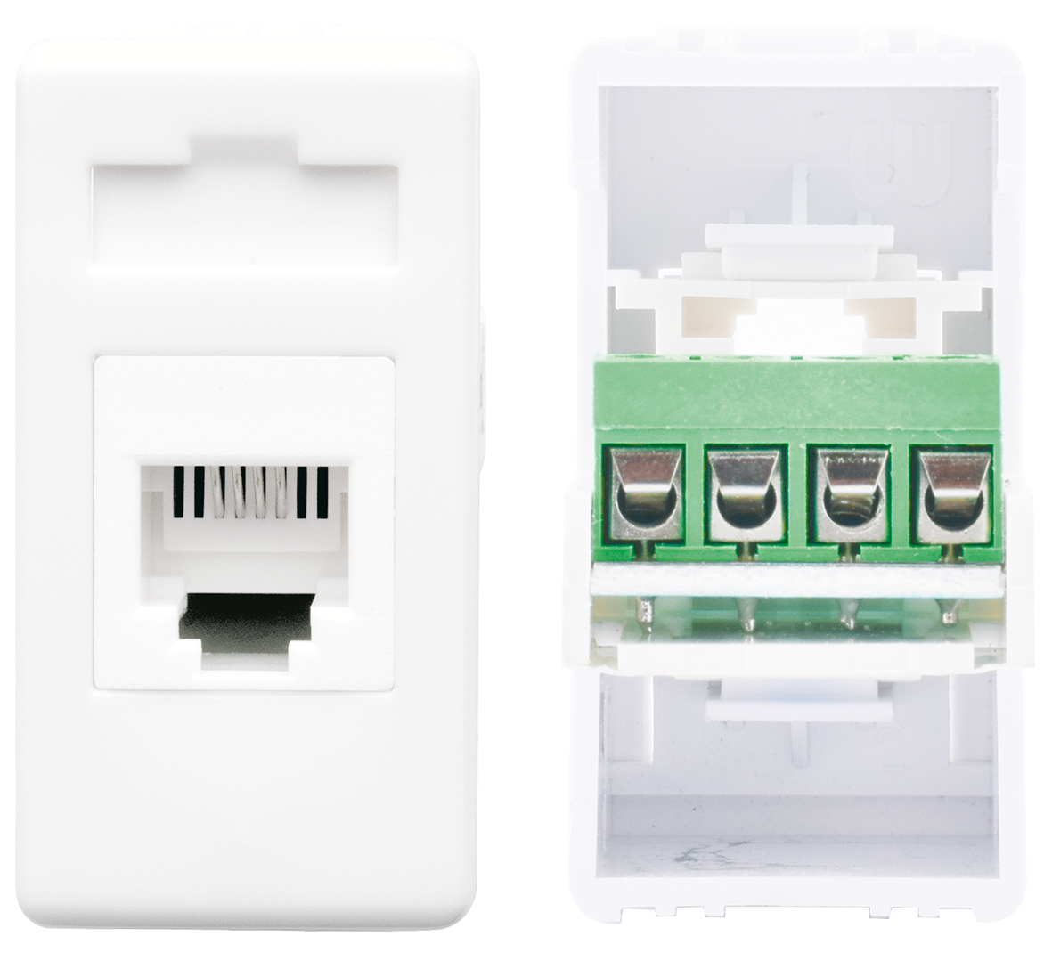 Telephone socket 4P (ivory)