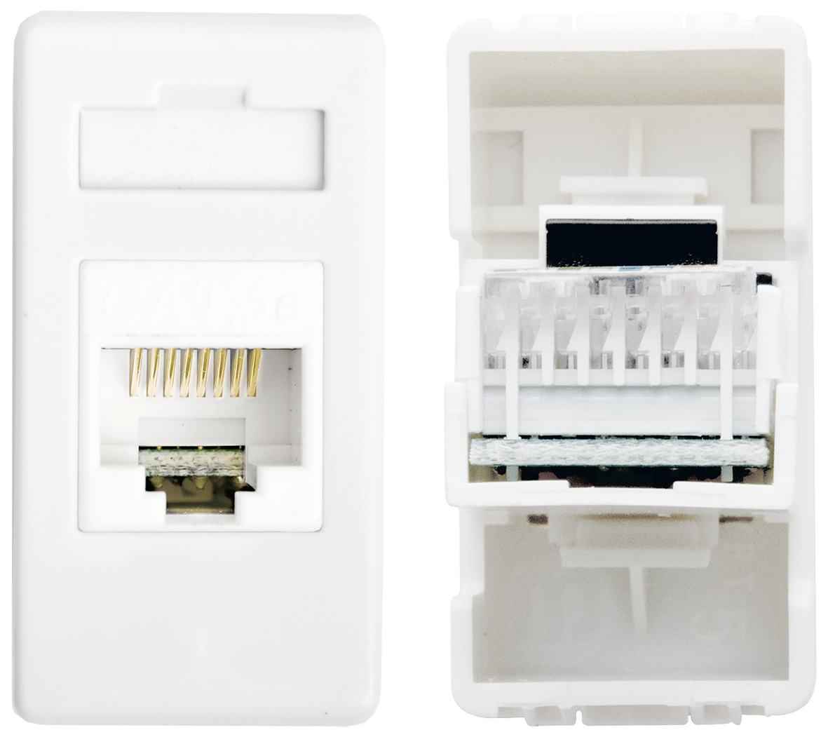Telephone socket 8P (ivory)