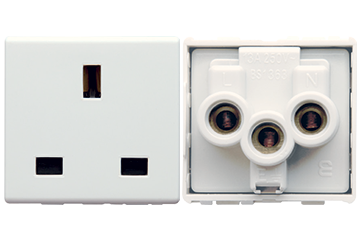 13A socket british type with shutter (ivory)