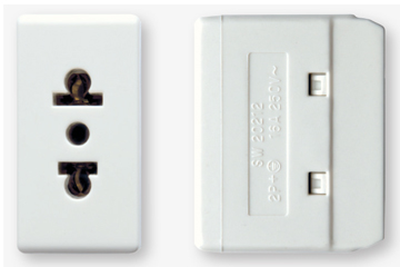 16A socket euro-american type (ivory)