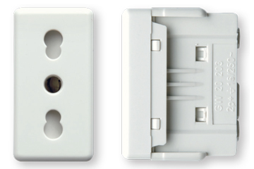 16A socket italian type with shutter (ivory)