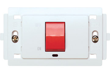 32A double pole air conditioner switch (white)