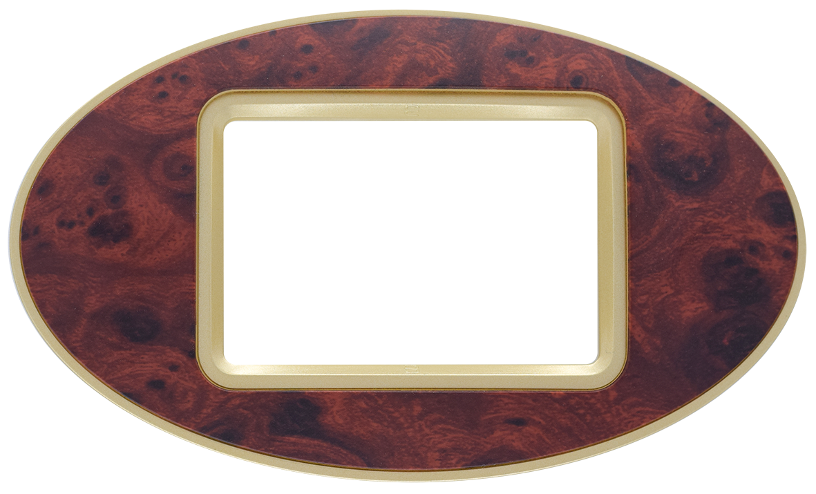 Frame: Gold Glossy / Center: Gedr Matt