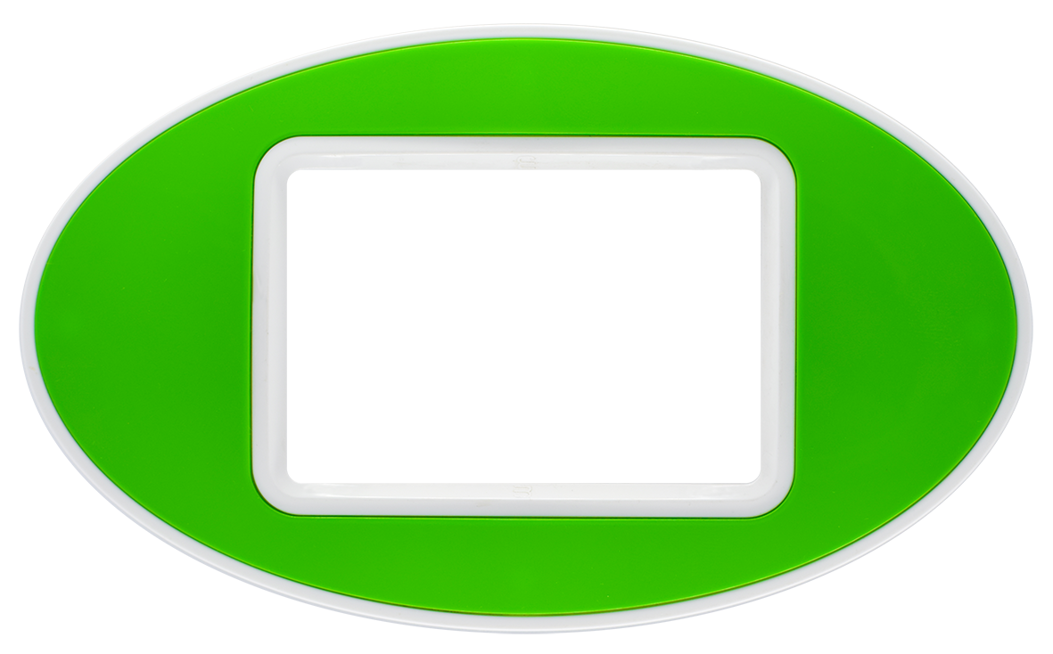 Frame: White / Center: Green